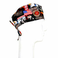 Us Marines Theme Scrub Hat