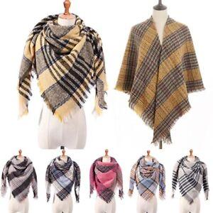 Women-Winter-Warm-Shawl-Scarf-Ladies-Tartan-Check-Neck-Wrap-Plaid-Pashmina-Stole