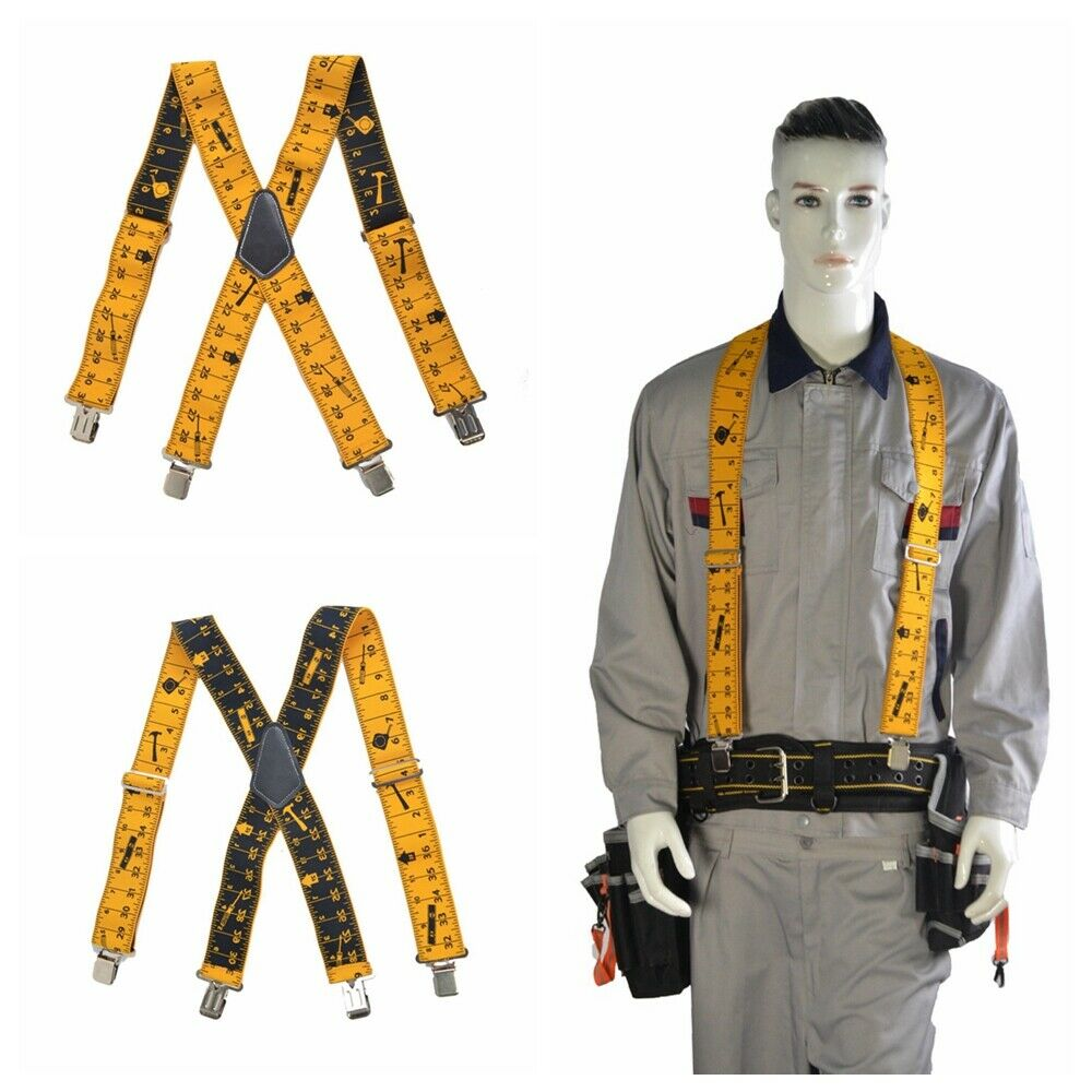 50mm 2Inch Wide Heavy Duty Tape Measurement Men Trousers Pants Braces Suspender