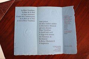 Invitation-8-avril-1957-reine-ANGLETERRE-Elisabeth-II-ceremonie-musicale