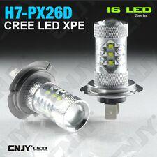 2 AMPOULE 16 LED H7 PX26D TYPE 80W CREE XPE 12V 24V FEUX ANTI BROUILLARD DE JOUR