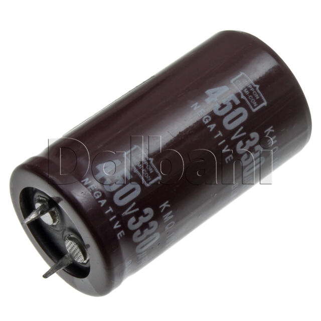 New Snap In 2 Pin Capacitor 450V 330UF 25mm Diameter 45mm Height