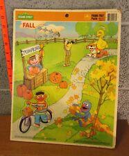 SESAME STREET beat-up frame puzzle Barkley & Prairie Dawn 1991 autumn Muppets