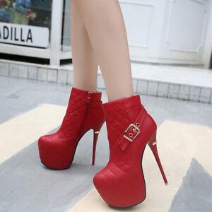 Rosso 9510 Stivaletti Bassi Pelle Stiletto 16 Cm Stivali Eleganti Simil xgZqSwx