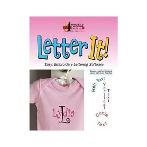 Details about Amazing Designs Letter It! Embroidery Software 35 Font Styles  Free Shipping