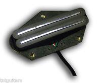Dragonfire Hot Tele Rails,humbucker In A Single Coil Size, Black W/ Chrome Rails