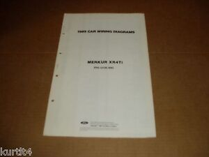 1989 mercury merkur xr4ti wiring diagram sheet service shop manual rh ebay com Ford Ranger Wiring Diagram Dodge Dakota Wiring Diagrams