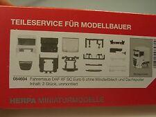 Herpa Fahrerhaus DAF XF SC Euro 6, weiß, 2 Stück - 084604 - 1/87