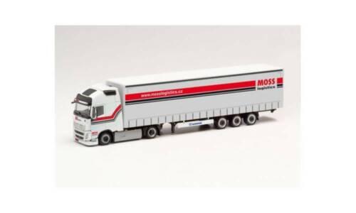 "XL Lowliner Sattelzug /""Moss Logistic/"" Herpa 311854 Volvo FH Gl"