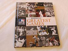 MLB Insiders Club Baseball's Greatest Games 2008 hardcover book *^
