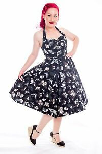 Psychobilly DEATH MOTH Butterfly Skull Swing Dress ~ Gothic ...