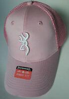 Browning Hunting Hat Baseball Cap Breeze Ladies Womens Pink Buckmark