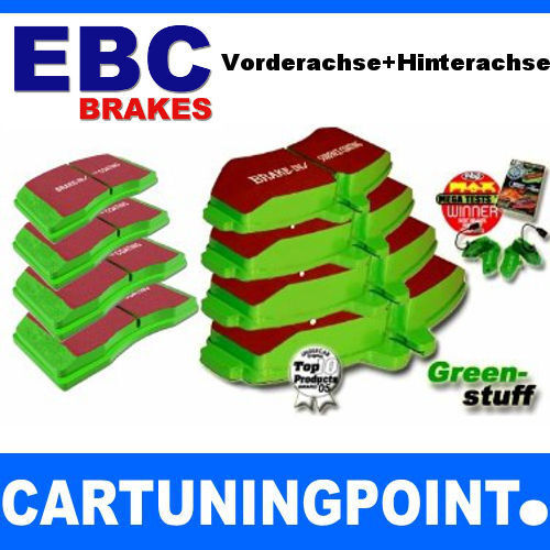 DP2197//2 DP2885//2 EBC Bremsbeläge VA+HA Greenstuff für Opel Speedster