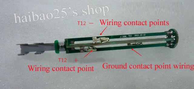 HAKKO T12 Handle Core Bracket Solder DIY Kit Sleep/Wake Switch Plug for 936 907