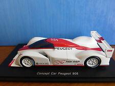PEUGEOT 908 HDI V12 FAP CONCEPT CAR SALON DE PARIS 2006 SPARK S1270 1/43 RESINE