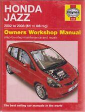 HONDA JAZZ Coupé 1.2 & 1.4 Benzina (2002-2008) Officina Proprietari Manuale * NUOVA *