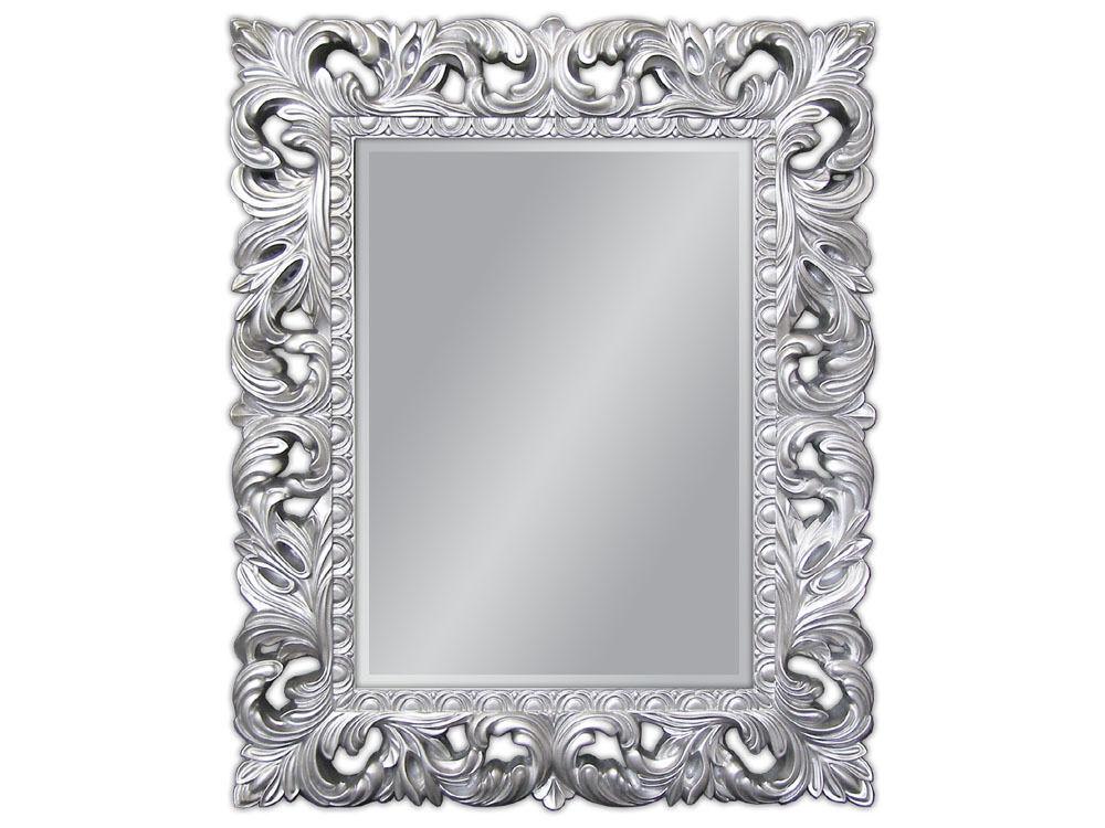 Specchio muro argento antico barocco repro shabby vintage for Specchio barocco argento