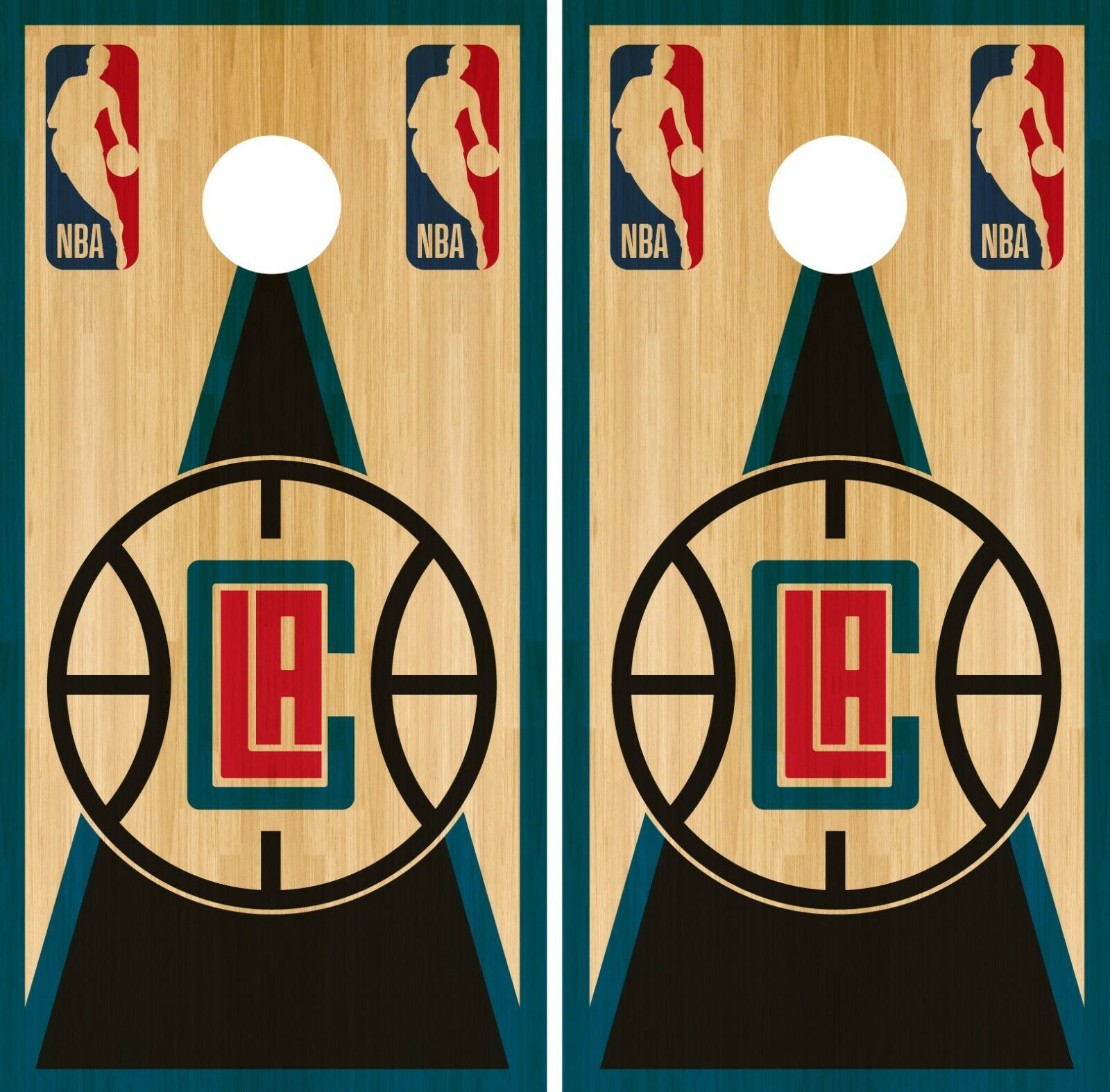 LA Clippers  Cornhole Wrap NBA Vintage Game Board Skin Set Vinyl Decal CO624  to provide you with a pleasant online shopping
