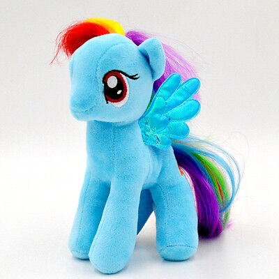 "My Little Pony Rainbow Dash(Blue) Plush Soft Toy Teddy Kids Gift New 7""/18cm"