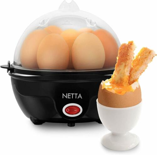Electric Egg Boiler Piercer Poacher Cooker Multi Functional With Measuring Cup