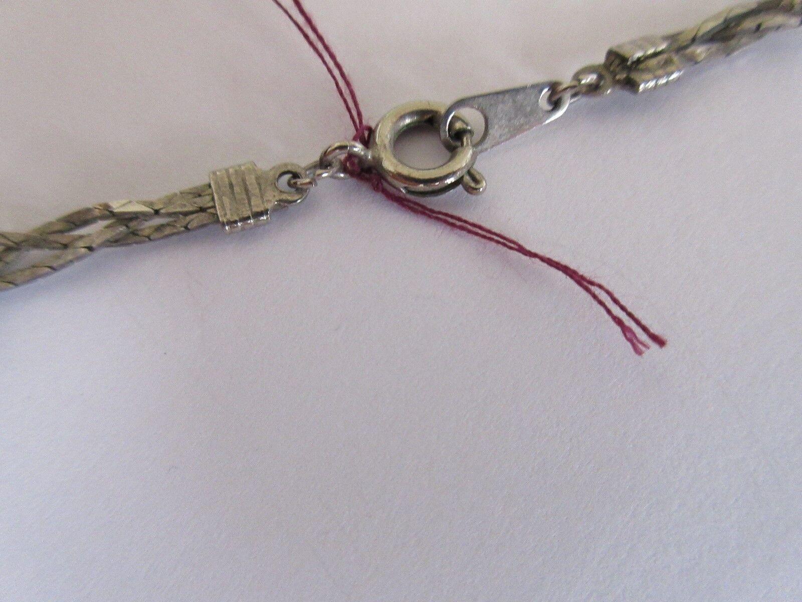 "Necklace , Silver Beads , 24"" , Retro , Vintage"