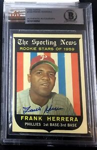 1959-TOPPS-129-FRANK-HERRERA-ROOKIE-BAS-BECKETT-SIGNED-CARD-AUTOGRAPHED-AUTO