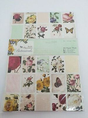 DoCraft Papermania 16 designs BOTANICALS Range  160gsm A5 Paper Pack 32pk