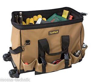 Toolpack-360-318-Werkzeugtasche-fahrbar-Trolley-Rollen-Werkzeugkoffer-Tasche-Pro