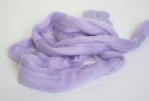 1950g Fine Coloured Merino Wool 19.5mic top roving spinning felting Blue Violet