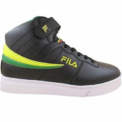 springa skor klassiska skor ny produkt Fila Men's Vulc 13 Mid Plus MP Black Green Yellow Red Casual Ankle ...