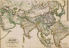 Echte 167 Jahre alte Landkarte Asia INDIEN Daxinapatha भारत China Hiong Nu 1850