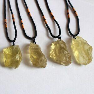 Natural-Citrine-Quartz-Crystal-Pendant-Chakra-Healing-Gemstone-Necklace-Gift