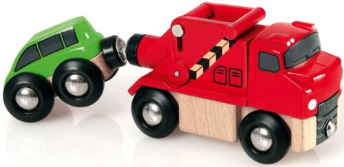 Brio Tow Truck Child Baby Nursery Toy Railway Car Vehicles Play Train Gift
