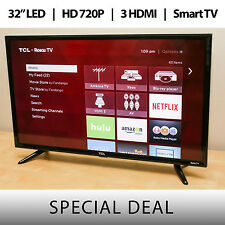 "TCL 32"" Inch 720p 60Hz Roku Smart LED LCD w/ 3 HDMI HD TV - 32S3750"