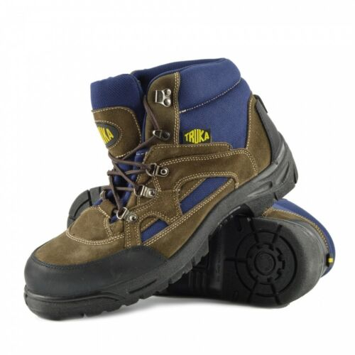 Mens Truka Steel Toe Boots PPE Work Construction Site Shoes Leather Comfort Grip