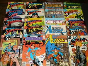 ALL-SUPERMAN-STARTER-LOT-59-COMICS-ACTION-ADVENTURES-1939-1987-SERIES-MORE