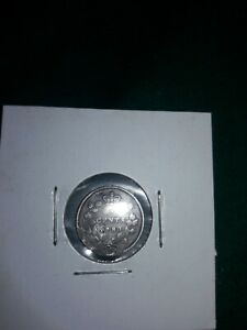 1880-H-Canada-Canadian-5-Five-Cents-Silver-Pre-owned-Circulated-Ungraded-Coin