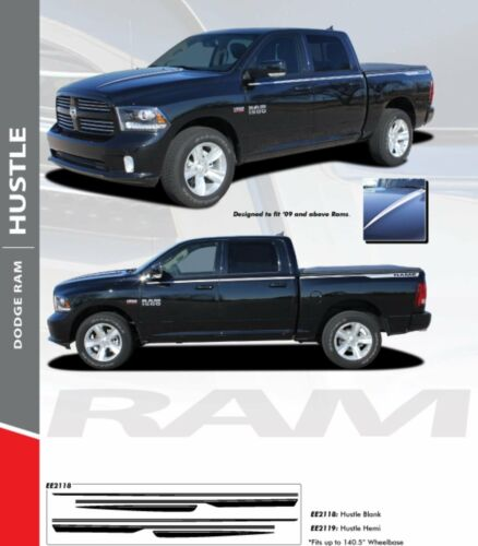 2009-2017 Dodge Ram Hustle Stripes Decal Vinyl Kit