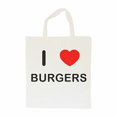 I Love Burgers - Cotton Bag | Size choice Tote, Shopper or Sling