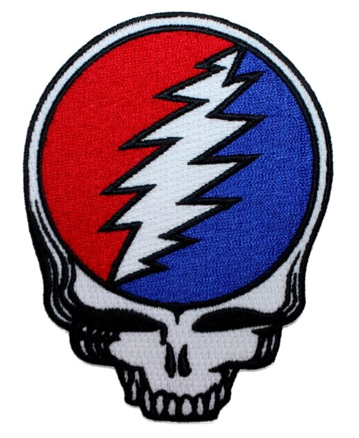 Grateful Dead Steal Your Face Skull Band Logo Embroidered Iron On