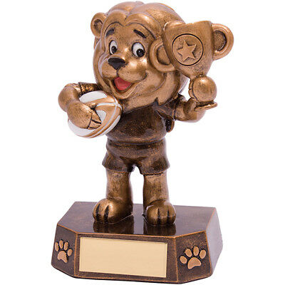 RF18078A Smiler Rugby Trophy 95mm,Free Engraving trd