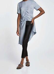 moda firmata 567f7 86d71 Dettagli su Zara Nero Ecopelle Pantaloni Legging BLACK PU Faux Leather  trousers pants L XL- mostra il titolo originale