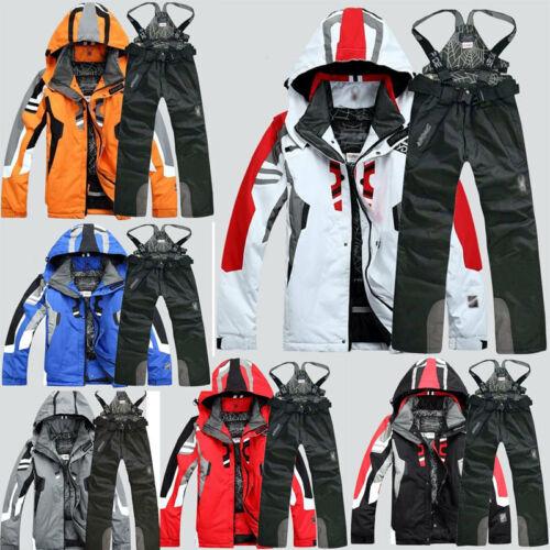 Wholesale 2019 Men's Winter Waterproof Ski Snow Suit Coat &Pants Outwear Sports Clothing