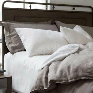 100-Vintage-Washed-Belgian-Linen-Flax-Sheet-Set-4pc