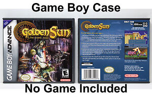 Details about Golden Sun 2: The Lost Age - Game Boy Advance GBA Custom Case  *NO GAME*