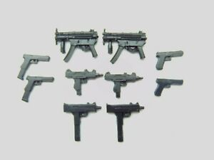 Custom Weapons 1:12 Scale 6 Inch Figure MP5 UZI Submachine Guns Arsenal Pack NEW