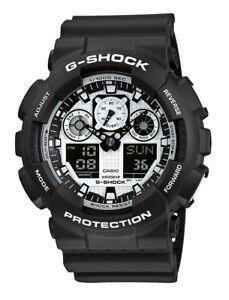 new arrival 01f77 6efc5 CASIO G-Shock GA100BW-1A Men s Wrist Watch