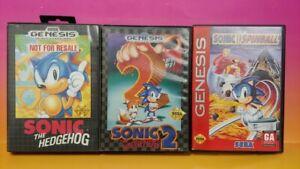 Sonic-The-Hedgehog-1-2-Spinball-Sega-Genesis-Game-Tested-Works-Games-Lot