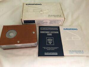 GRUNDIG Traveller II 7 Band Travel Radio FM/MW/SW in Box Leather Case PORSCHE