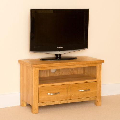 tv en chêne Handcrafted Armoire Newlyn Chêne petit TV STAND chêne clair meuble tv